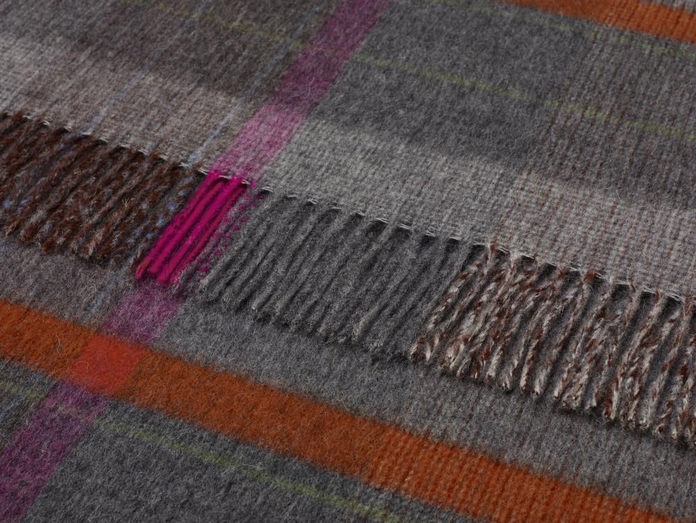 merino woll decke bronte g nstig bestellen karo patchwork grey check. Black Bedroom Furniture Sets. Home Design Ideas