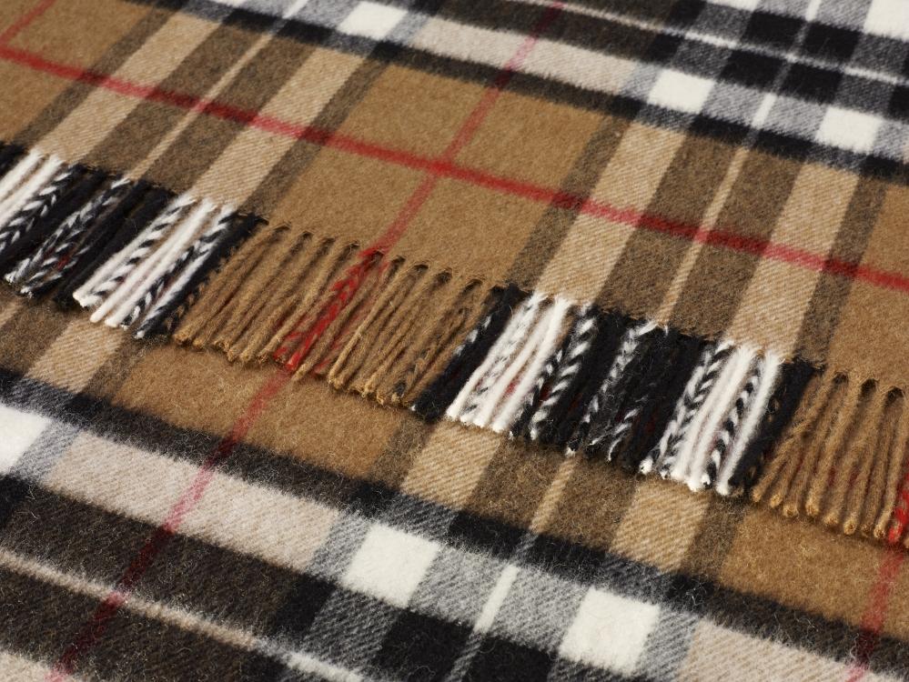 wolldecke beige rot schwarz kariert g nstig aus england. Black Bedroom Furniture Sets. Home Design Ideas
