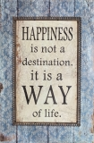 Bild Happiness ... is a way of life Shabby Chic REDUZIERT