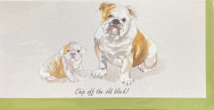 Karte BULLDOGGE Chip of the old block von The little dog laughed aus England