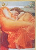 Karte Arts & Craft LORD LEIGHTON Flaming June