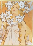 Karte Jugendstil MUCHA The Flowers: Lily