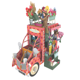 3 D Karte FLOWER SELLER CAR - Blumenwagen
