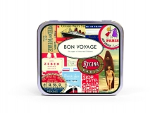 Sticker BON VOYAGE in Metallbox REDUZIERT