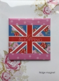Magnet Union Jack Love Shopping