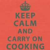 Untersetzer Keep calm and carry on cooking REDUZIERT