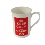 Tasse Keep calm and carry on rot