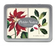 Karten VINTAGE CHRISTMAS BOTANICA Petite Notes Glitter in Metallbox