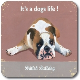 Untersetzer Schottland Hund Bulldog It's a dogs life