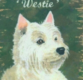 Untersetzer Schottland Westie West Highland Terrier