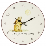 Wanduhr Country Life - Hase Love you to the moon