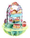 Pop-Up 3 D Karte Cake Display ( Kuchen Buffet ) aus England