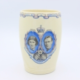 antiker Becher Krönung 1937 King Georg VI Wedgwood City of Portsmouth