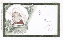 antike Postkarte - Queen Victoria 1902 rar