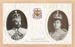 antike Postkarte - King George V Queen Mary Krönung 1910 rar