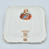 Teller mini antik King Edward VII Krönung 1902 Royal Doulton